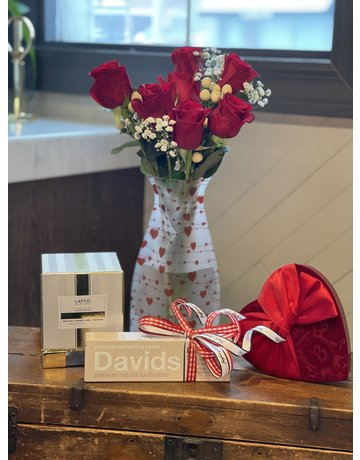 All You Need is Love...Chocolate...Toothpaste Flower Package