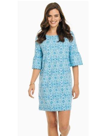 Southern Tide Whitnee Printed Perf Dress