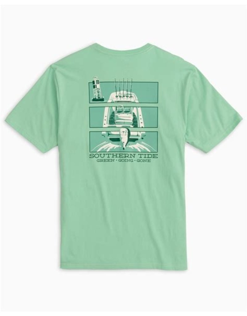 Southern Tide SS Green Going Gone Triptyc Tee