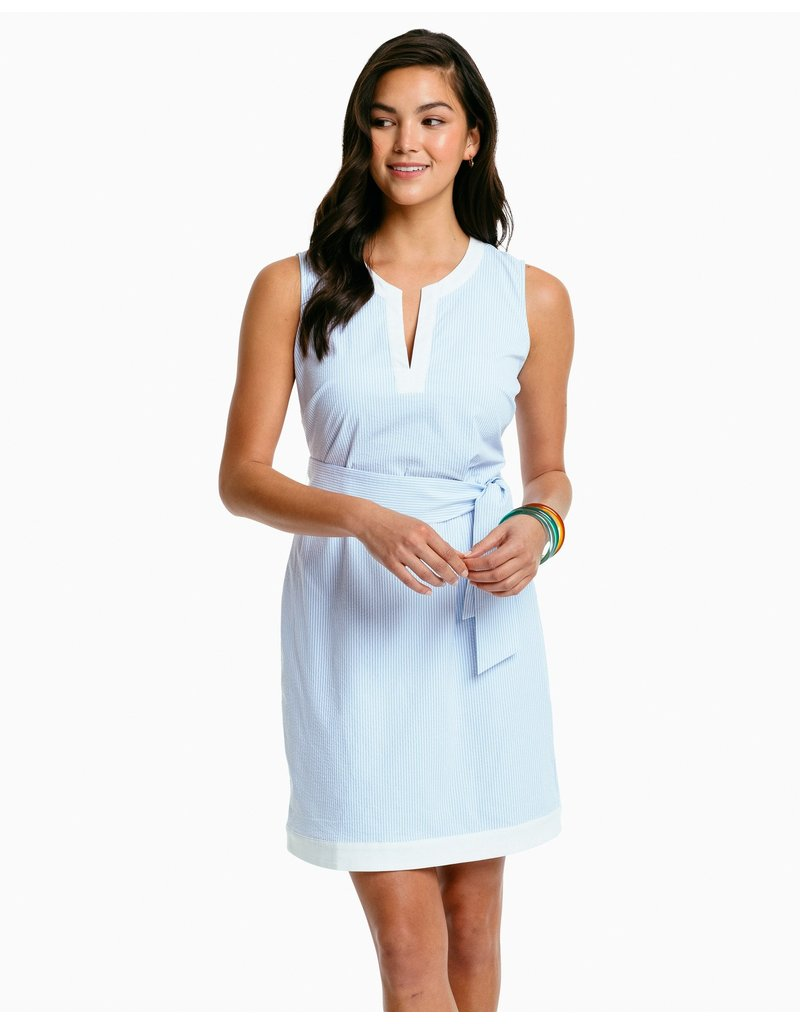 Southern Tide Erika Perf Seersucker Dress