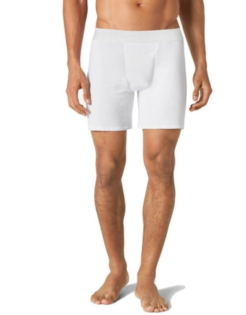 Tommy John Men's Second Skin Relaxed Fit Boxer White Small