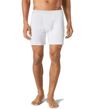 Tommy John Men's Second Skin Relaxed Fit Boxer White Medium