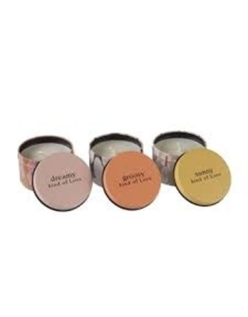 illume Love Triangle Tin Gift Candle Set