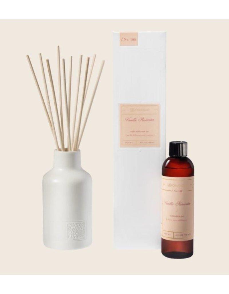 Aromatique Vanilla Rosewater- Reed Diffuser Set