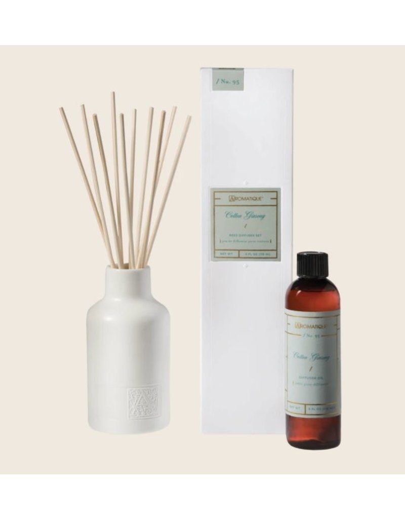 Aromatique Cotton Gingseng Reed Diffuser Kit