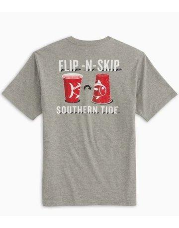 Southern Tide M SS Flip N Skip Heather Tee
