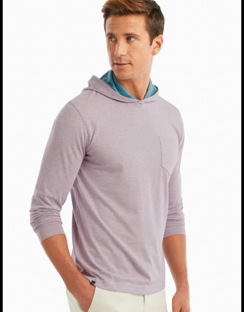 Johnnie-O Gunnar Striped Long Sleeve Hooded T Shirt