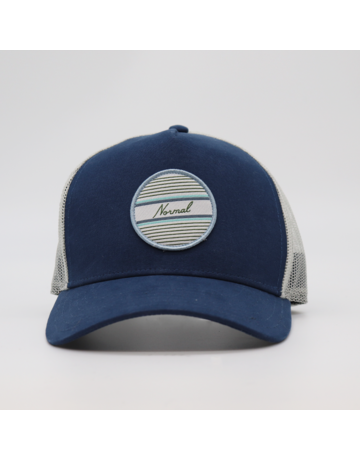 The Normal Brand No Boundaries Tall Trucker Cap- Mineral Blue