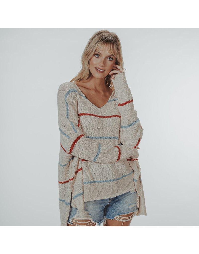 The Normal Brand Roadtrip V- Neck Sweater