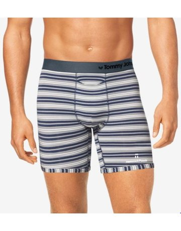 Tommy John Cool Cotton Hammock Pouch Stripe Mid-Length Boxer Brief