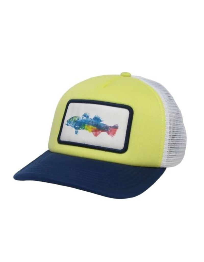 Midwest & Beyond Color Fish Laguna Trucker Yellow/White/Navy