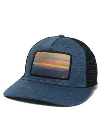 Midwest & Beyond Sunset Roadie Trucker Marine Blue/Black