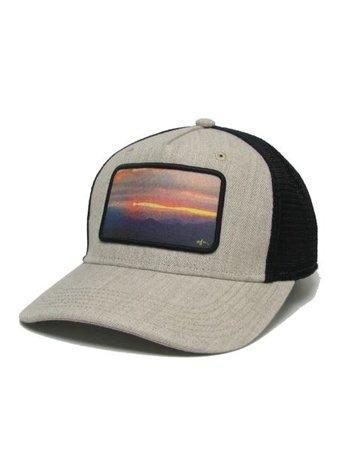 Midwest & Beyond Sunset Roadie Trucker Heather Tan/Black