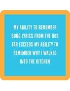 Iamtra/ Drinks on Me Coasters Lyrics Coaster