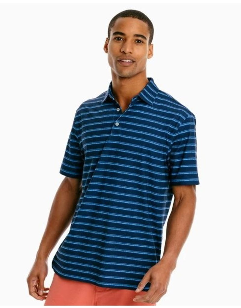 Southern Tide Mens SS Driver Distressed Perf Polo