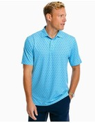 Southern Tide Mens SS Driver Drink of the Day Perf Polo