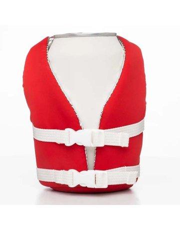 Puffin Flag Red Beverage Life Vest