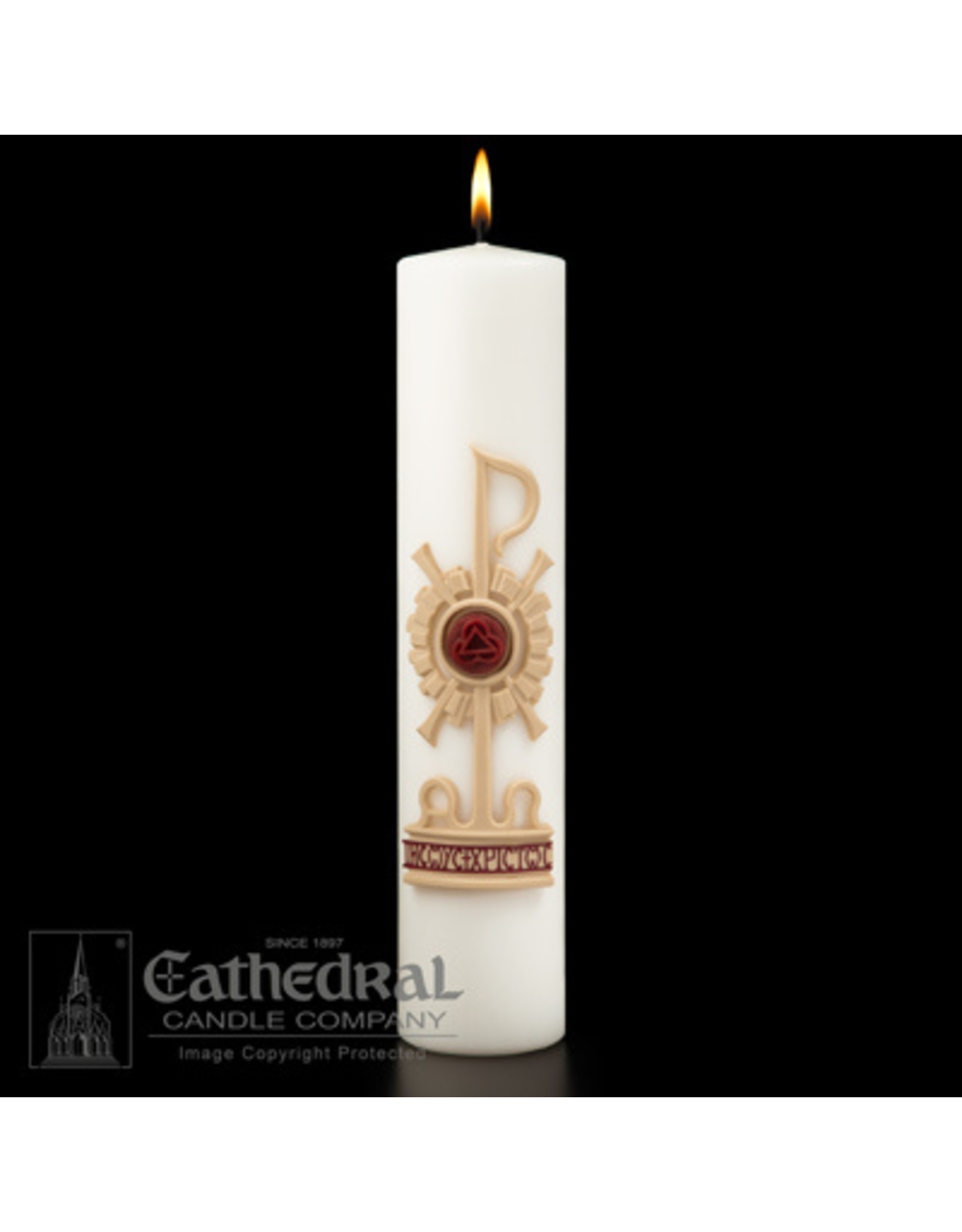 Christ Candle Holy Trinity 3x14
