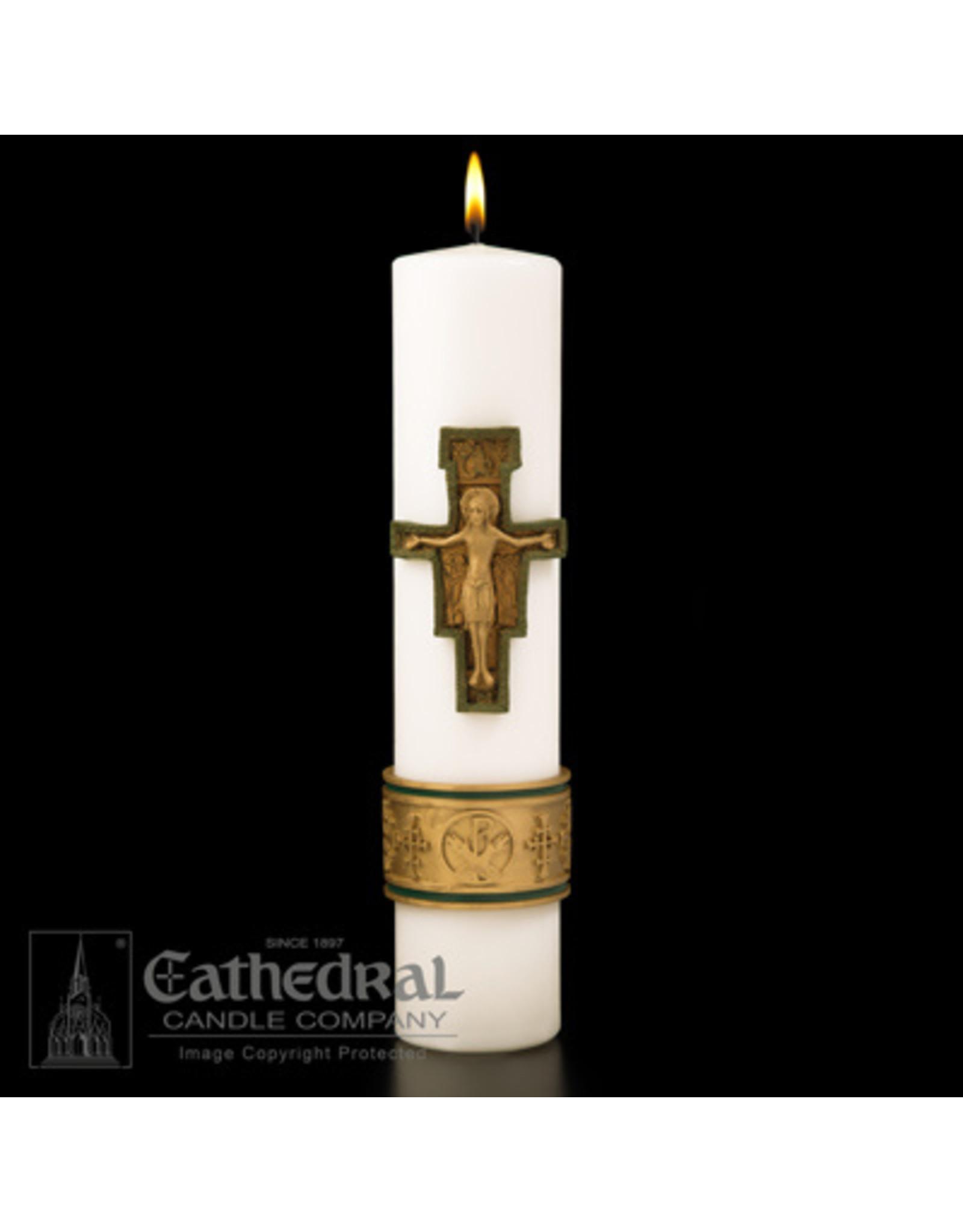 CNDL CHRIST CROS ST FRANCIS 3X14