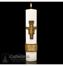 Christ Candle - Cross of St. Francis - 3x14 - Sculptwax