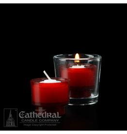 4-Hour Ruby Votive ez-Lite Candles (Case of 2 Boxes)