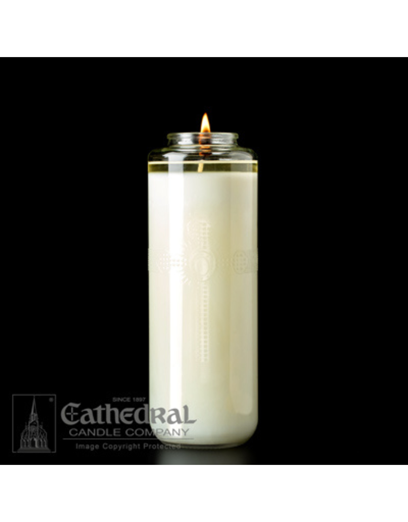 8-Day 51% Beeswax Glass Domus Christi Candle