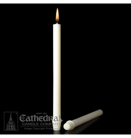 """51% Beeswax Altar Candles 1-1/8""""x15"""" SFE (12)"""