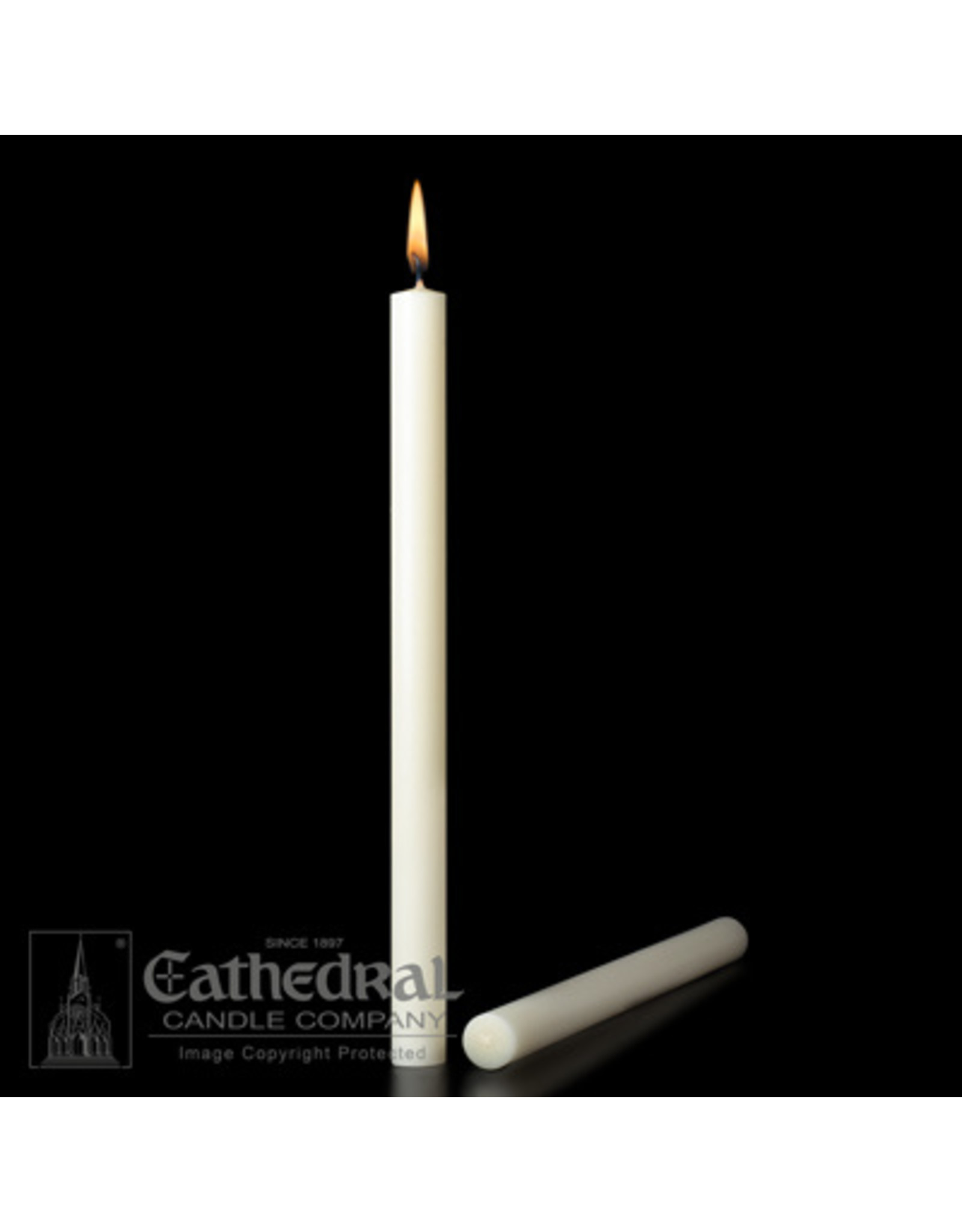 """51% Beeswax Altar Candles 1-1/8""""x15"""" PE (12)"""
