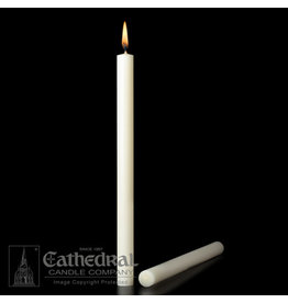 """51% Beeswax Altar Candles 7/8""""x12"""" PE (24)"""