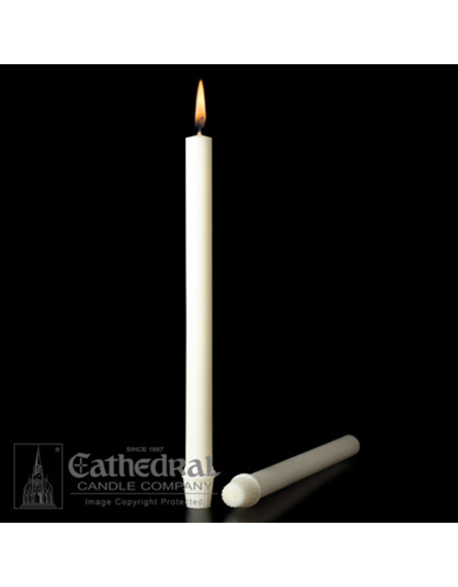 """51% Beeswax Altar Candles 7/8""""x16"""" Special Thin Wicks (18)"""