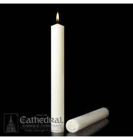 "51% Beeswax Altar Candles 3""x12"" APE (2)"