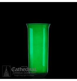 Green Flared 8-Day Glass Sanctuary Globe