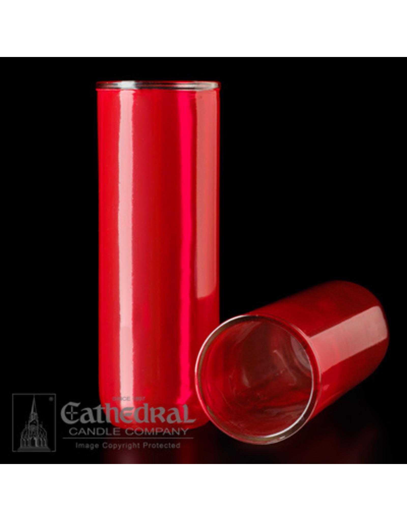 5, 6, 7-Day Glass - Ruby - Inserta-Lite Reusable Globe