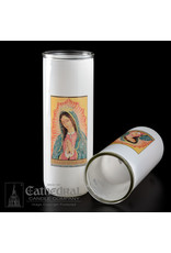 5, 6, 7-Day Glass Globe - Our Lady of Guadalupe