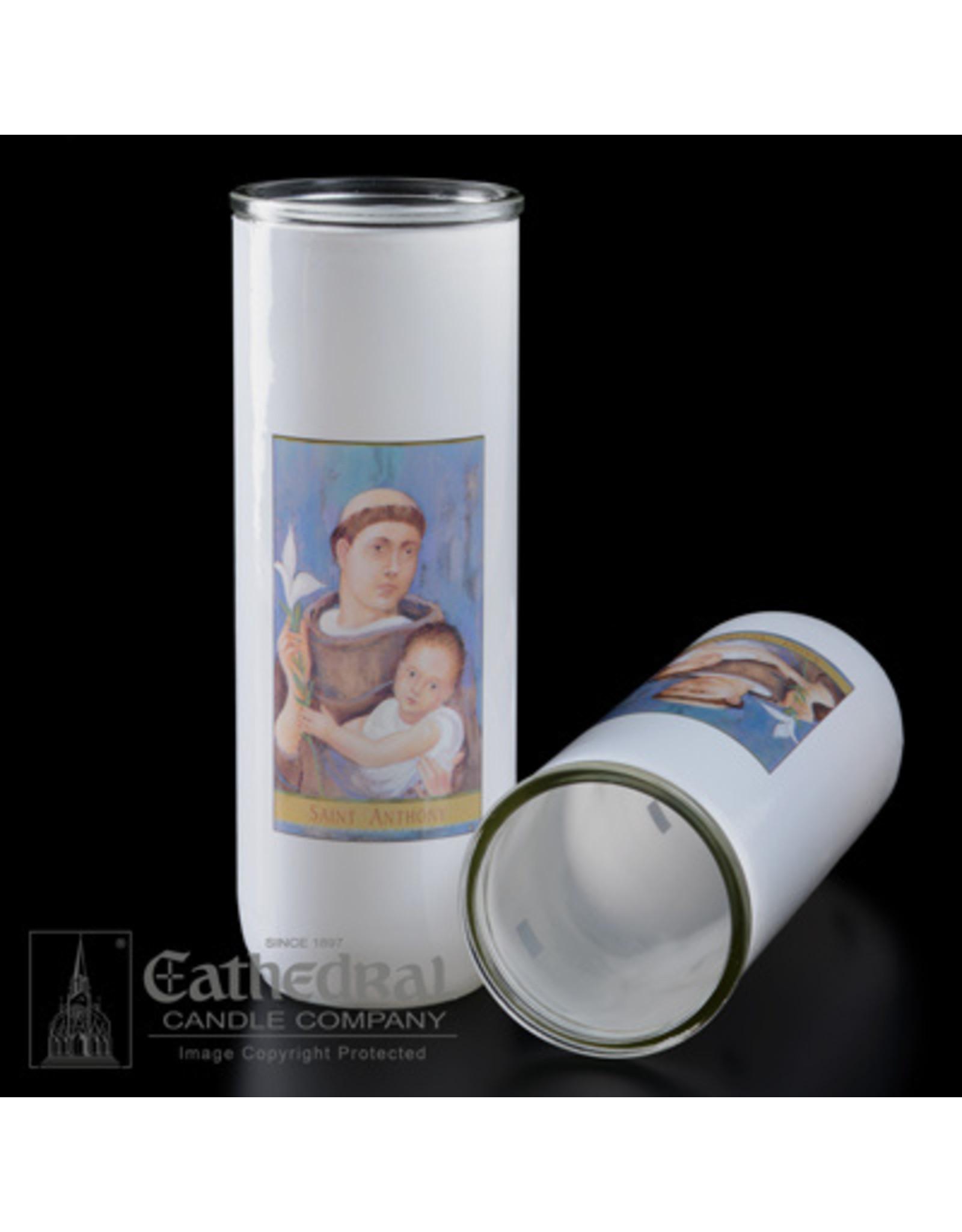 5, 6, 7-Day Glass Globes - St. Anthony (12)