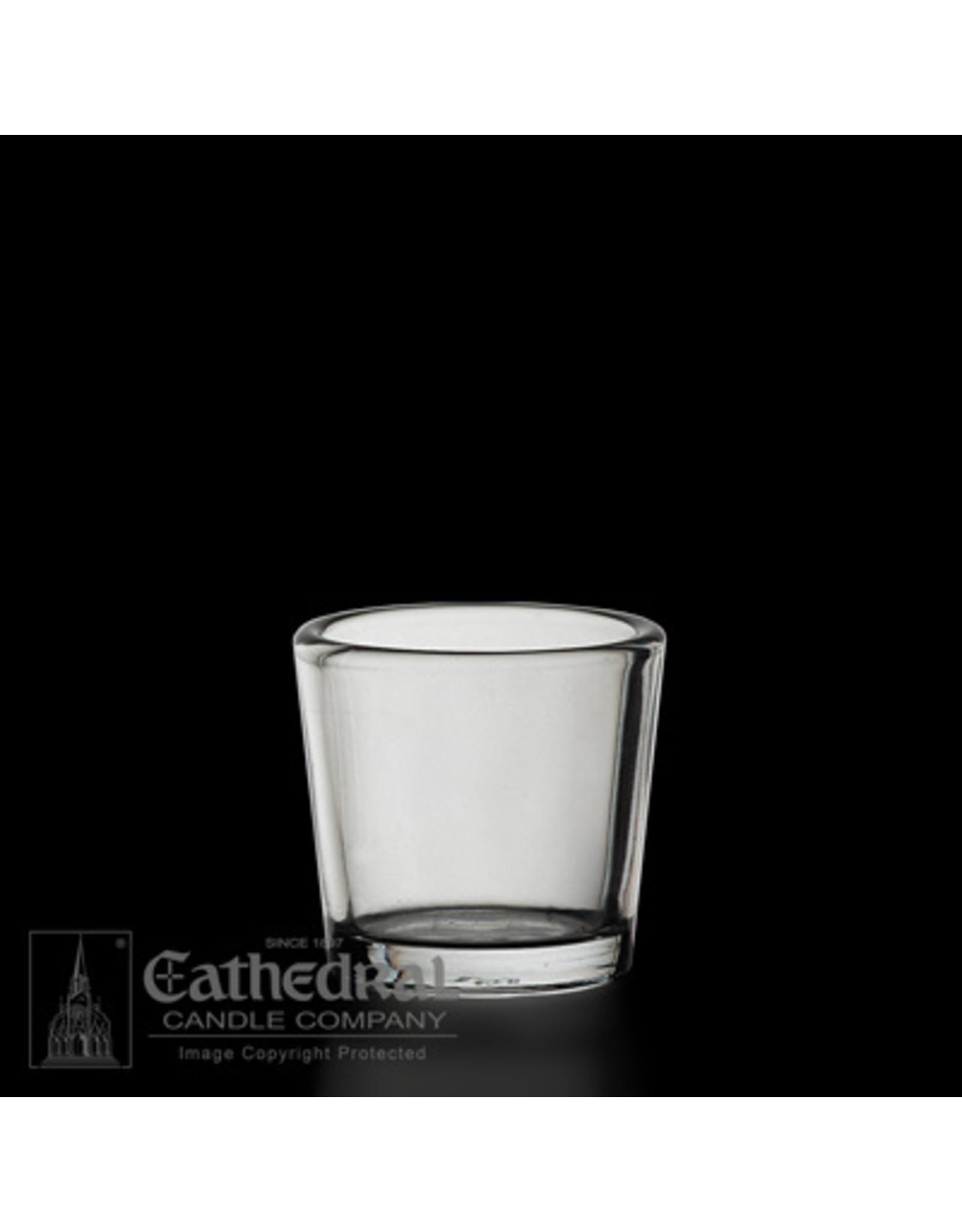 CNDL GLASS VOT 10 HR CLEAR(12)