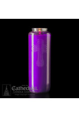 6-Day Purple Glass Candles (12)