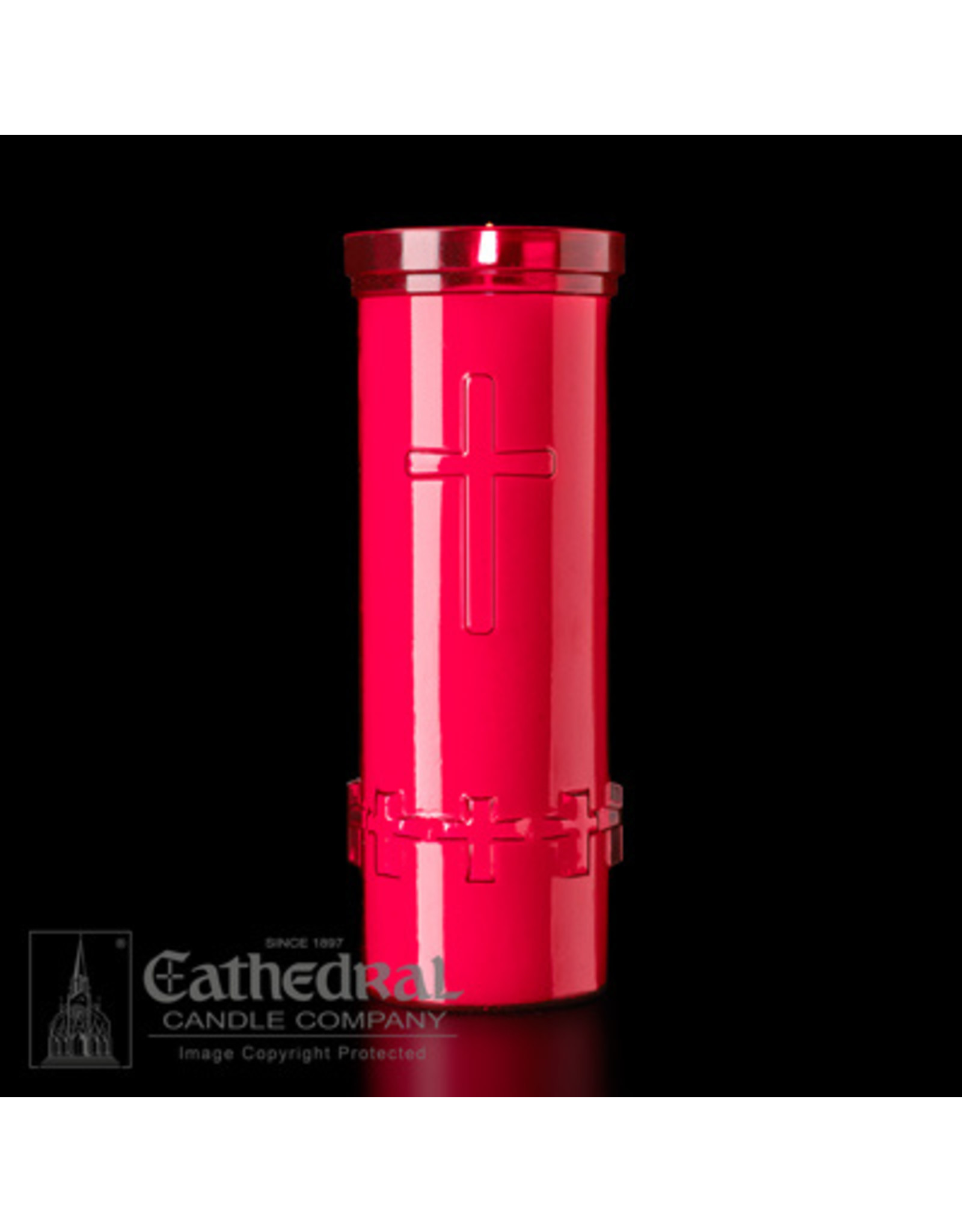 6-Day Devotiona-Lite Ruby Plastic Candles (24)