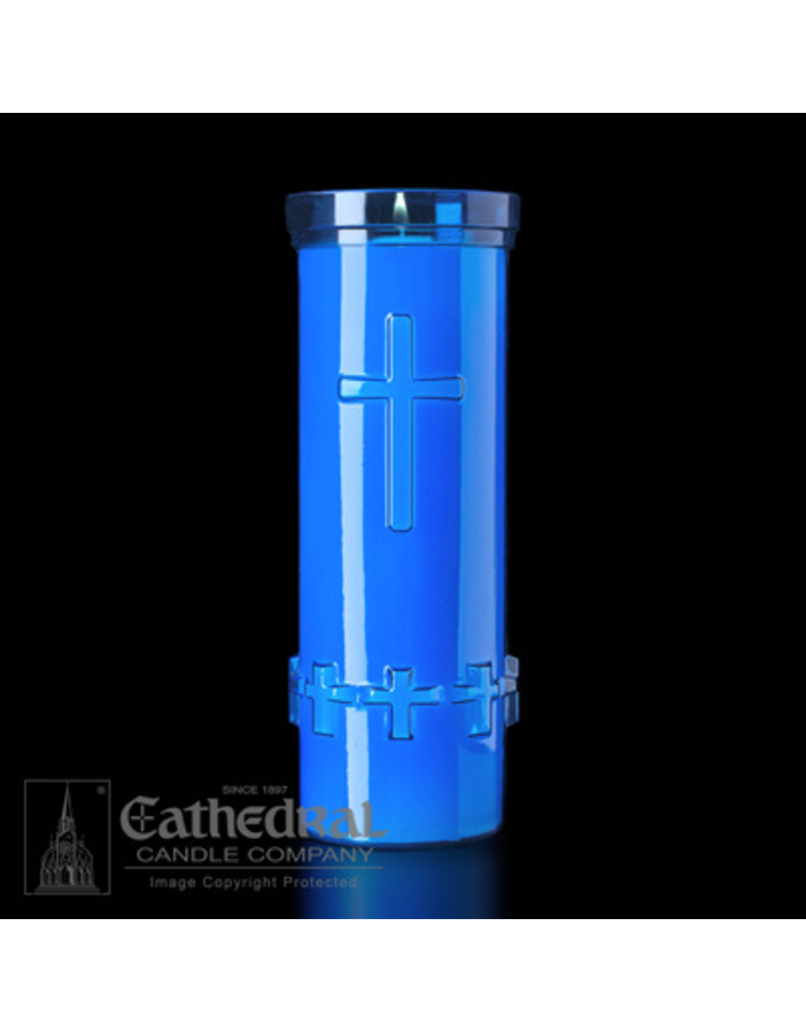 CNDL DEVOTIONA-LITE 6-DAY BLUE PLASTIC (24)