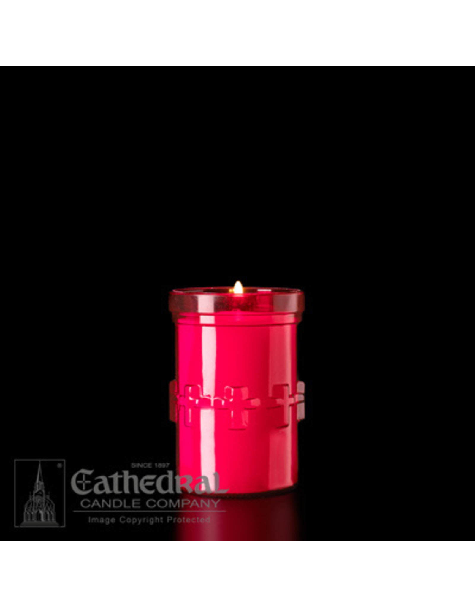 3-Day Devotiona-Lite Ruby Plastic Candles (48)