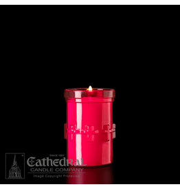 3-Day Devotiona-Lite Ruby Plastic Candle (Each)