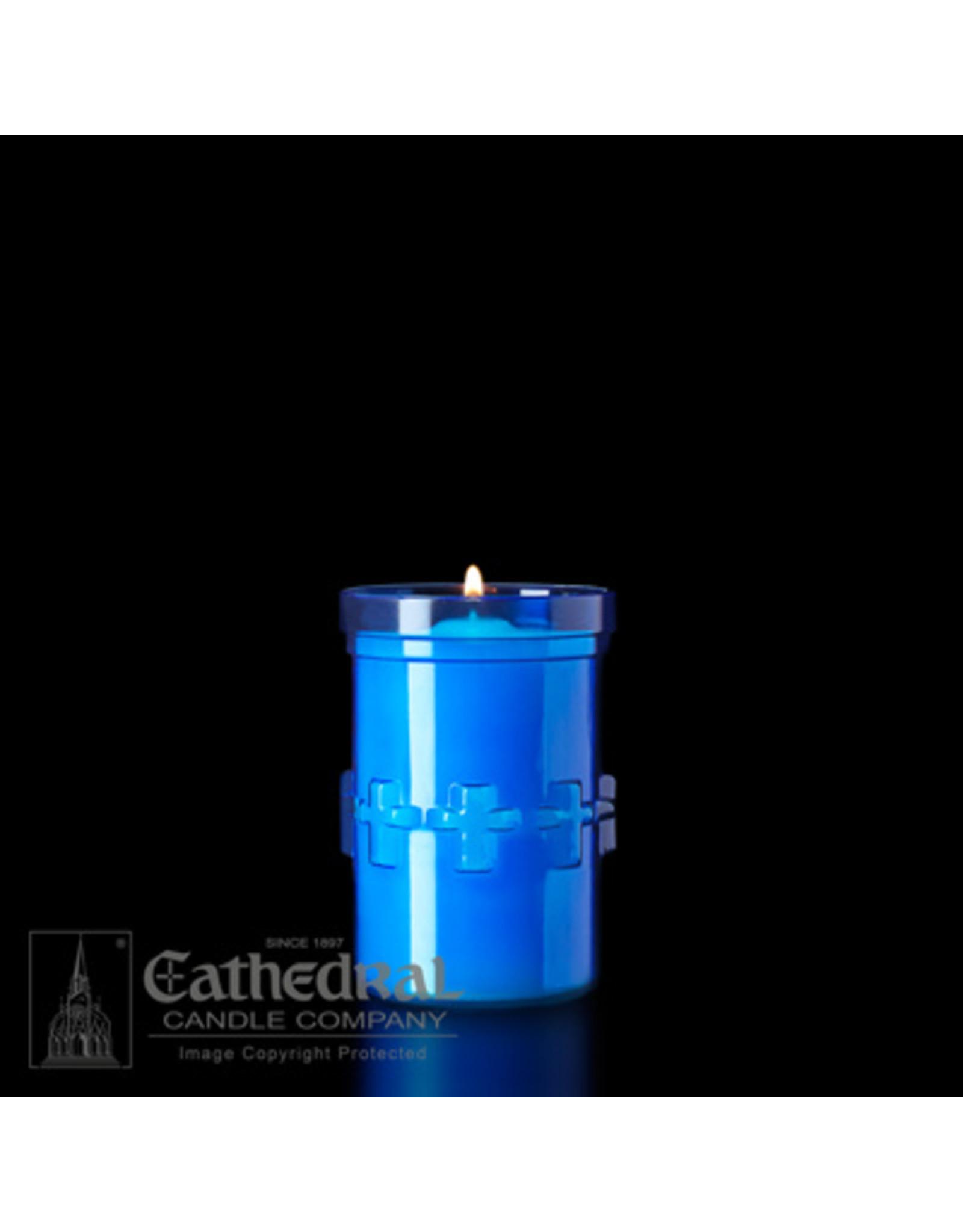 3-Day Devotiona-Lite Blue Plastic Candle