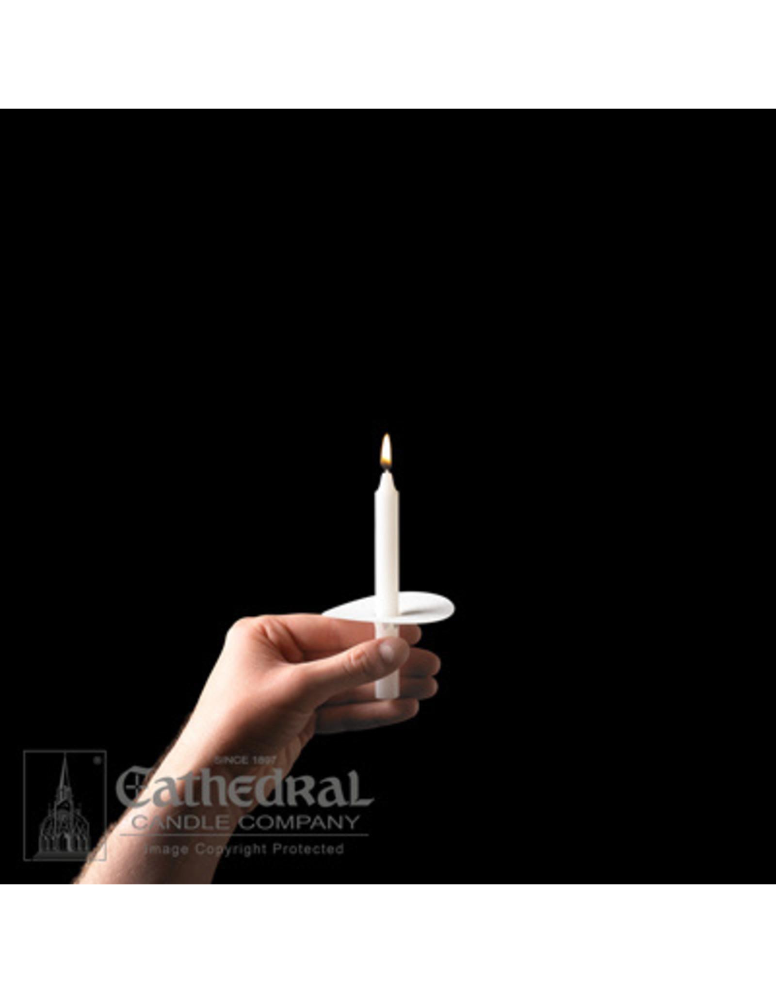 "Congregational Candles 5.25"" w/Paper Drip Protectors (100) 24's"
