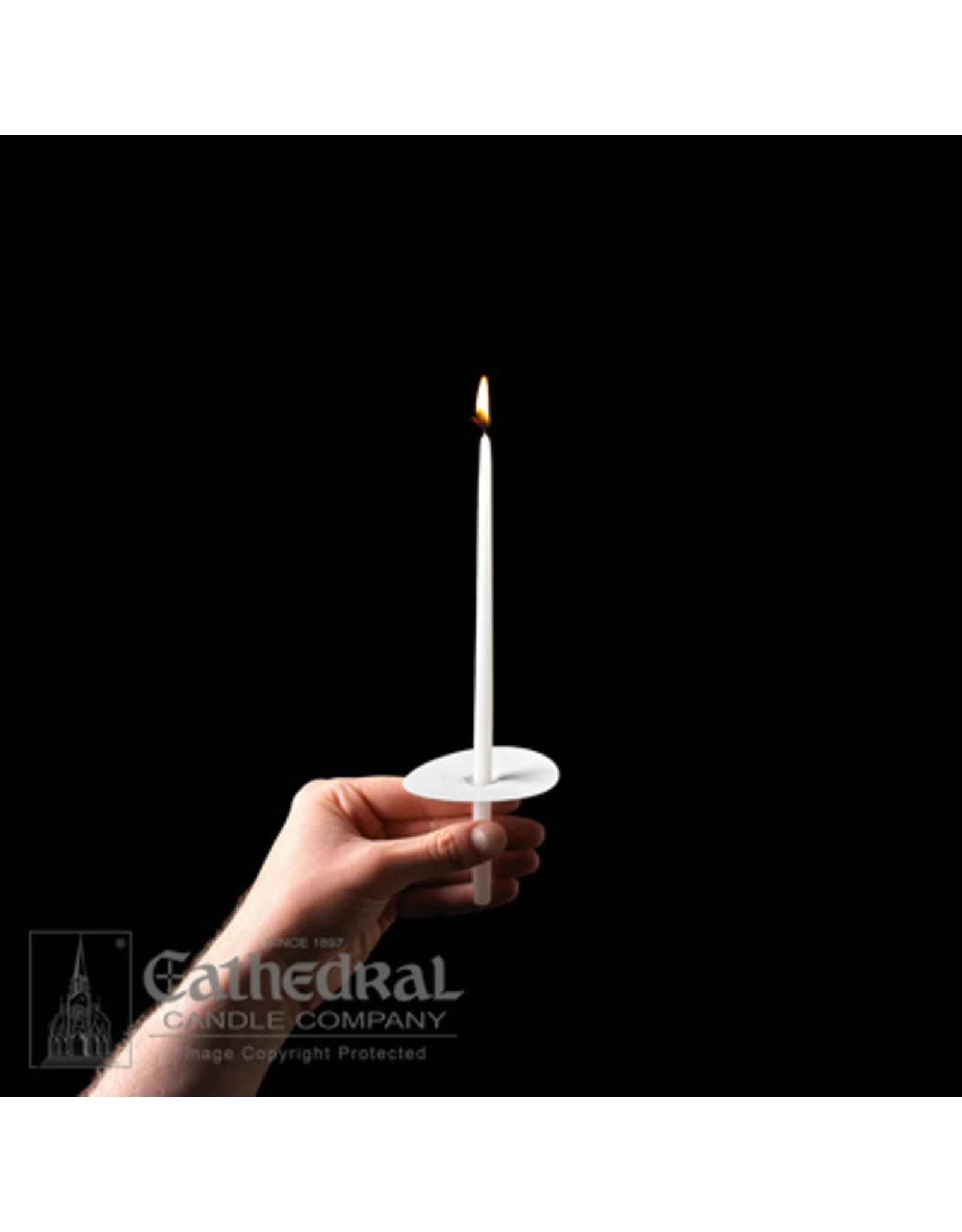 "CCongregational Candles 9"" Taper w/Paper Drip Protectors (100)"