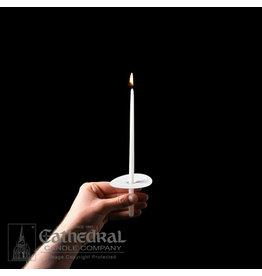 "Congregational Candles 9"" Taper w/Paper Drip Protectors (100)"