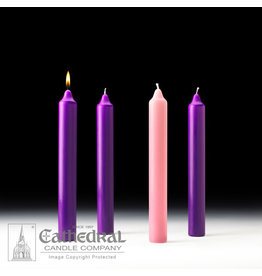 Advent Candles 1.5x12 3 Purple, 1 Rose