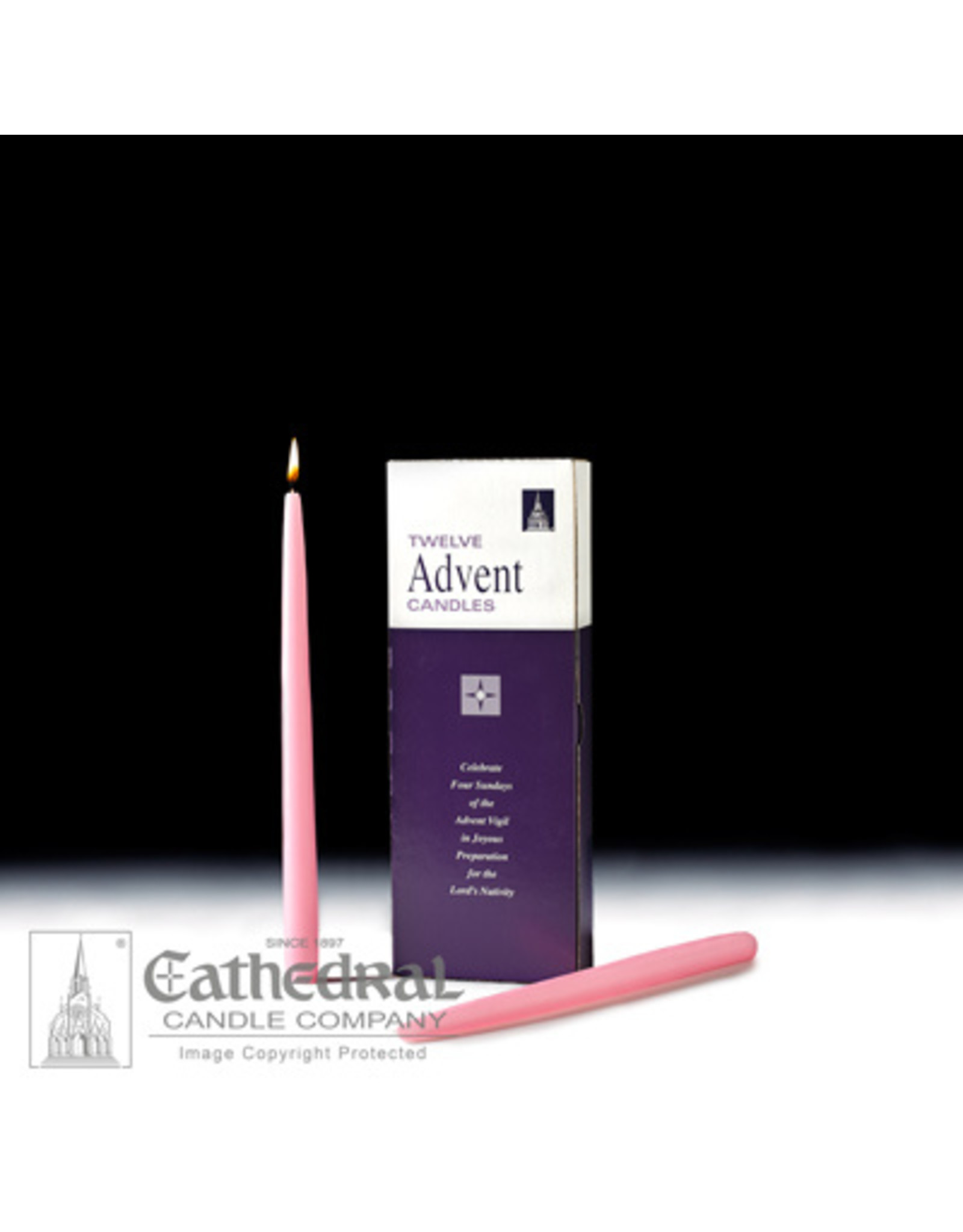 "CNDL ADV TAPERS 12"" PINK (12)"