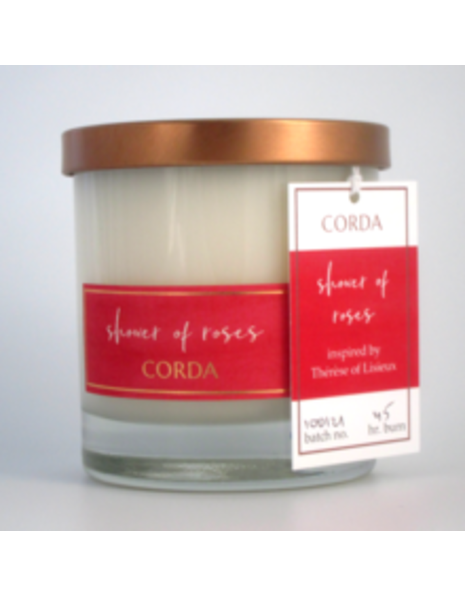 Corda Shower of Roses Candle-Therese of Lisieux