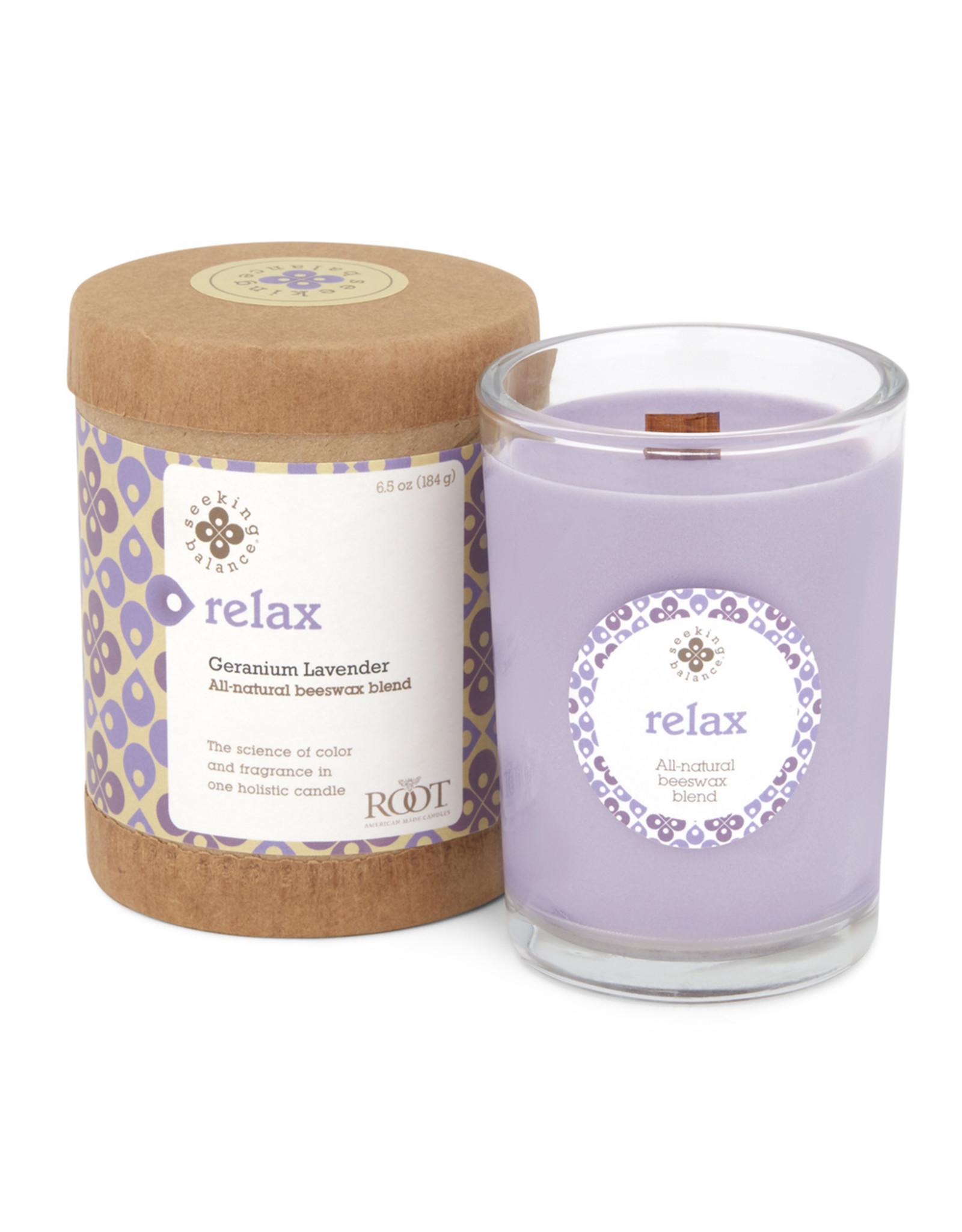 Root Candle - Relax (Geranium Lavender)