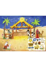 Sticker Advent Calendar - Starlit Stable